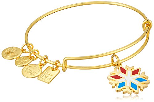 Alex and Ani Snowflake EWB Shiny Gold Bangle Bracelet