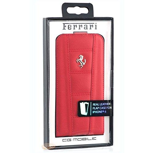 Ferrari FE458FLP6RE Schutzhülle für Apple iPhone 6/6S silber logo