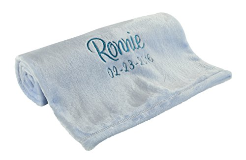 Personalized Baby Blankets, Blue, Perfect Baby Boy or Girl Gifts by berry bebe