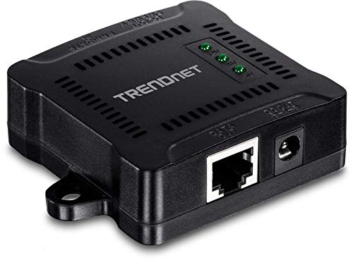 TRENDnet Gigabit PoE Splitter, Wall Mountable, Adjustable Voltage Output, PoE Powered, TPE-104GS