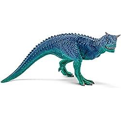 Schleich Réplica de Figura de Dinosaurio Carnotaurio, color azul con verde