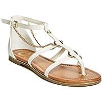 G by GUESS Women's Lessa Chain Flat Sandals