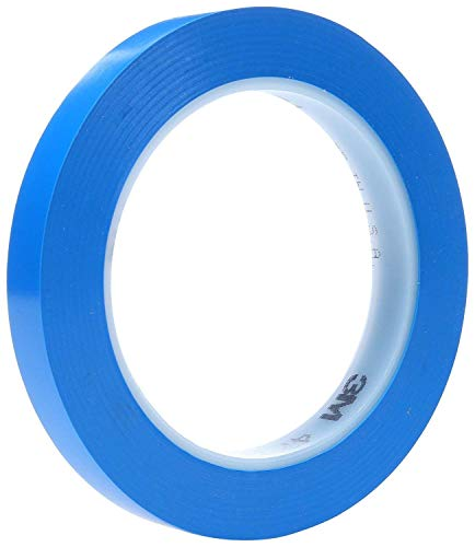 3M 471 Blue Marking Tape - 1/2 in Width x 36 yd Length - 5.2 mil Thick - 03119 [PRICE is per ROLL]