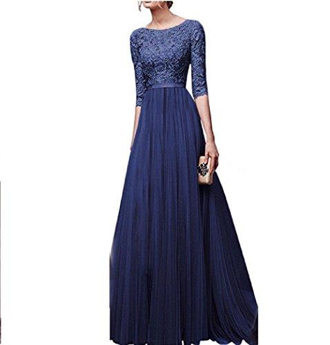Vino Yisaesa Mujeres Vestido Azul color Largos Tamaño 2xl Oscilación Del Vestidos Fiesta De Rojo Coctel Elegantes Gasa Las Noche rOrU6vqI