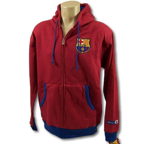 fc barcelona soccer zip front fleece hoodie sweatshirt. Black Bedroom Furniture Sets. Home Design Ideas