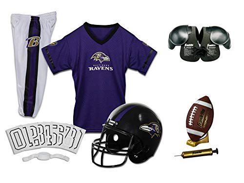 Franklin NFL Baltimore Ravens Youth Licensed Deluxe 9-pc Uniform Set, Small