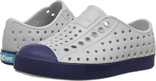 native Kids Jefferson Water Proof Shoes, Mist Grey/Regatta Blue, 4 Medium US (Blue Mist Apparel)