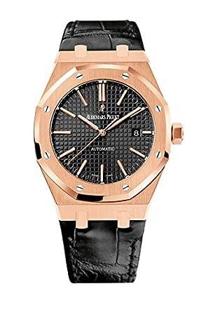 a189f10222c Amazon.com  AP Audemars Piguet Royal Oak 41 Rose Gold Leather Strap  15400OR.OO.D002CR.01  Watches