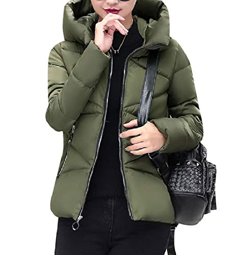 Classics Army Green Hoode XINHEO Slim Jacket Thickened Outdoor Women Down Coat Mini qAv4ZU0