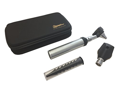 - RA Bock Diagnostics Fiberoptic LED Otoscope Kit in Newest Tortoise Shell Case - The Perfect Kit for Medical Students!
