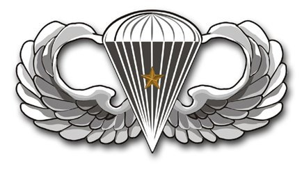 US Army Basic 1 Combat Jump Wings Decal Sticker 3.8