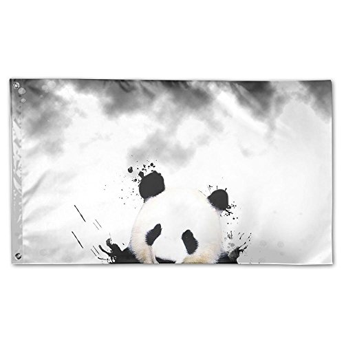 Colby Keats Cute Panda Garden Lawn Flags Indoor Outdoor Decoration Home Banner Polyester Sports Fan Flags 3 X 5 Foot