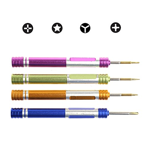 Because0f 4-In-1 Magnetic Tip Metal Screwdriver Kit For iPhone Series Opening Repair Tool