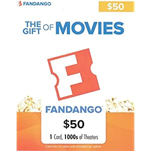 Fandango Gift Cards: $10 off a $50 physical gift card