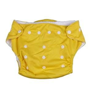 La vogue Pañal Para Bebé/Cubrepañal/Braga De Niños De Tela Lavables Reutilizables Amarillo