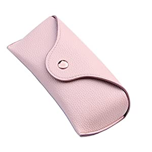 Lucky Leaf Extra Large Frames Sunglasses Goggles Case Hard Shell Eyewear Glasses Case (Pink)