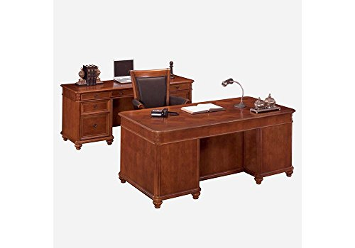 Antigua Executive Desk and Credenza West Indies Cherry Finish Weight: 619 lbs by DMI Furniture
