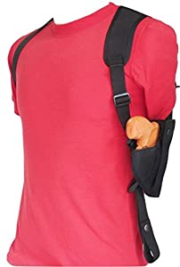 """Federal Vertical Shoulder Holster for 2"""" Revolvers 5 & 6 Shot - LCRX, S&W, Rossi, Taurus 85, Most Others"""