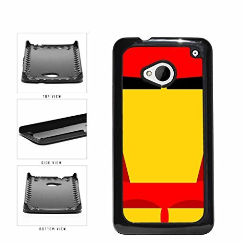 Yellow and Red Funny Cartoon Comic Superhero Plastic Phone Case Back Cover HTC One M7