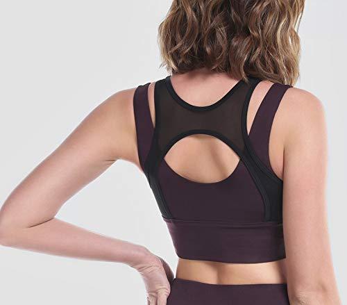 Yoga Transpirable S Malla Correr Prueba A Sujetadores Ropa Mujeres Para De Yoga Jswygl Golpes Interior M Deportivos wORUXqxtna
