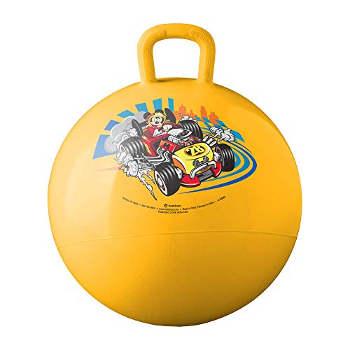 Hedstrom Mickey Mouse and The Roadster Racers Hopper Ball, Hop Ball for Kids, 15 Inch