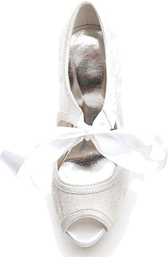 Femme Blanc Find EU Blanc Plateforme Nice 36 5 EqZaF