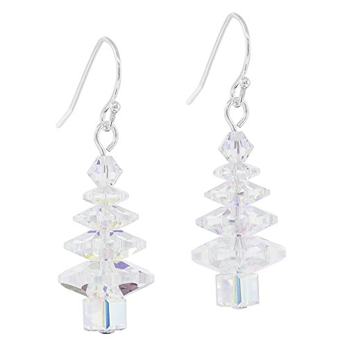 Christmas Tree Earrings Kit - Crystal AB - Exclusive Fusion Beads Jewelry Kit