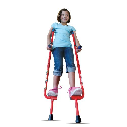 Top Toys for 5 Year Old Boys -  Walkaroo Steel Stilts by Air Kicks with Ergonomic Design for Easy Balance Walking, Assorted Colors (Blue or Red)
