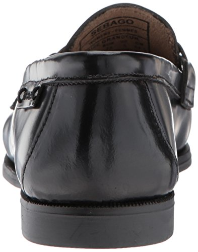 Leather black Women''s Black Bit Plaza Sebago Mocassins HWAFwBqRq