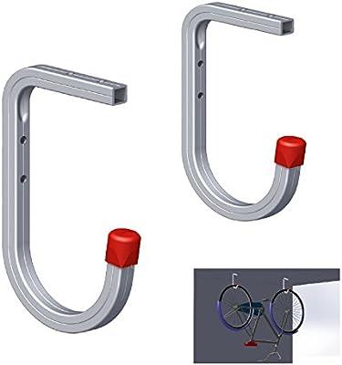 2 x Pared y Techo 50kg Bicicleta Panchos, Soporte Escaleras Herramientas Garage: Amazon.es: Hogar