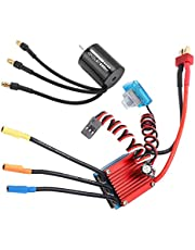 Rc Esc Set, High‑Purity Copper Rc Motor Set Waterproof for 2S / 4-6S Lithium Battery
