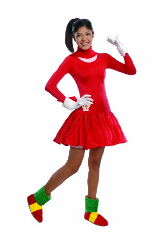Sonic Adult Costumes (Rubie's Costume Sonic The Hedgehog Knuckles Dress and Accessories, Red, Teen)
