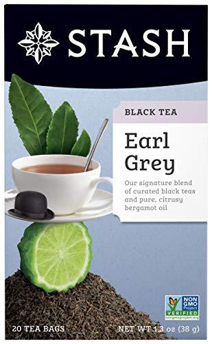 Black Tea, 20 Count Tea Bags Individually Wrapped in Foil, Black Tea with Citrus-y Bergamot, Premium Black Tea, Full Caffeine, Drink Hot or Iced ()