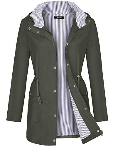 Bloggerlove Raincoats Waterproof Lightweight Rain Jacket Active Outdoor Hooded Women