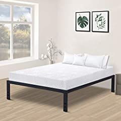 Just forget the weak wood slat bed frames and the squeaking. The Olee Sleep 18 inch s-3500 steel slat frame is the answer to all bed frames.We care for your comfort and your safety.18 inch high profile allows you to make full use for under be...