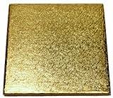 Enjay Square Cake Drum - 16'' - Gold