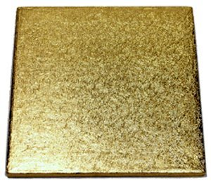 Enjay Square Cake Drum - 16'' - Gold