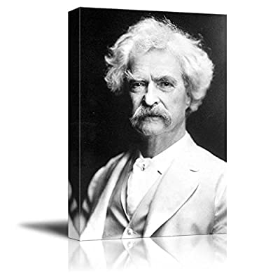 Alluring Work of Art, Portrait of Mark Twain Inspirational Famous People Series, Made With Top Quality