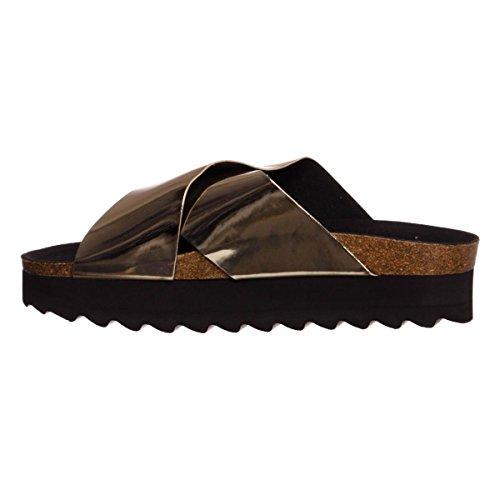 California Attraversano Pantofole Sintetico Donne Di Organici Colori BPqS0A