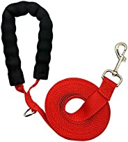CUZYO Training Lead for Dogs, Long Strong Nylon Recall Leash for Dog Obedience with Comfortable Padded Handle
