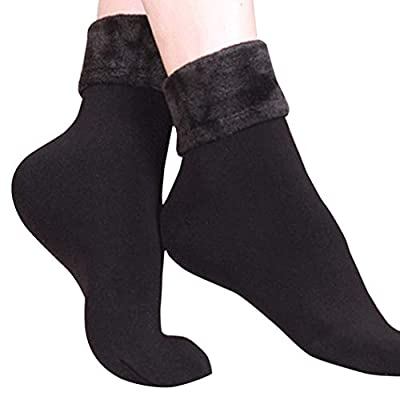 Women Socks Wool Cashmere Cotton Thicken Thermal Soft Solid Winter Casual Socks