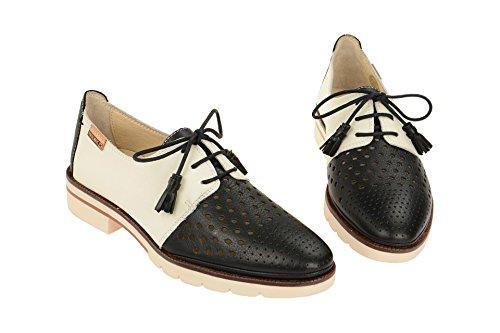 Pikolinos Sitges W7j_v17, Zapatos de Cordones Derby para Mujer Black