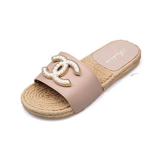 De 40 Mujer Exteriores Vestir Prendas Arena Verano De Pink Antideslizante Sandalias Plano GUANG De Pink Zapatillas De Suave 40 Fondo XING Zapatos con Y 2 Inferiores Pantuflas Palabra Xq4IfwvfO