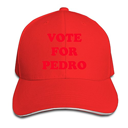 Logon 8 Vote For Pedro Funny Sandwich Peaked Cap Red One (Jensen Button)