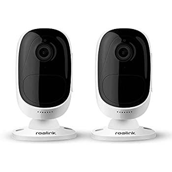 Reolink Argus 100% Wire-Free Battery-Powered Indoor/Outdoor 1080p HD Wireless Home Security IP Camera with Night Vision (2 pack)