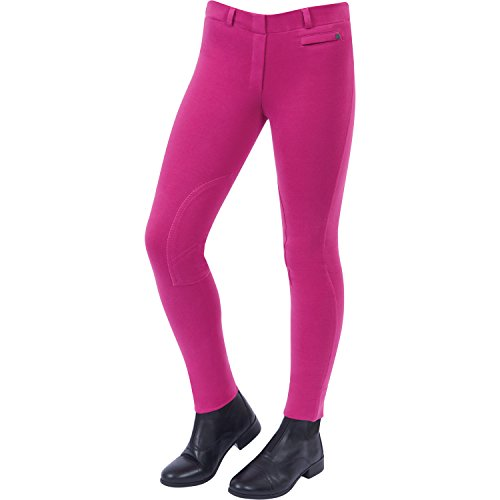 Dublin Supa-Fit Pull On Knee Patch Jodhpurs Childs Pink lz88H
