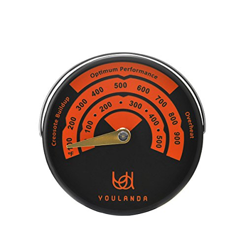 Wood Stove Thermometer,Stove Meter Thermometer for Wood Burning Stoves Top,Flues,Stovepipe Thermometer Measures Temperatures on StoveTop,Avoid Stove Fan Damaged by Overheat by Túasia