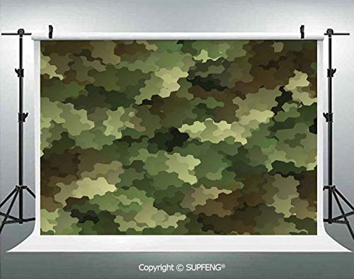Photo Backdrop Frosted Glass Effect Hexagonal Abstract Being Invisible Woodland Army 3D Backdrops for Interior Decoration Photo Studio Props