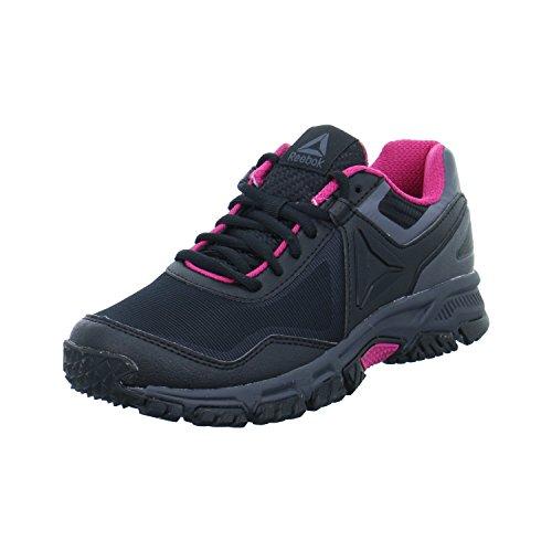 Reebok ridgerider Trail 3.0–Chaussures de sport, femme, noir–(Black/Ash Grey/Acid Pink)