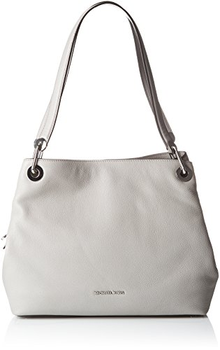 MICHAEL Michael Kors Women's Large Raven Shoulder Tote, Pearl Grey, One Size ()